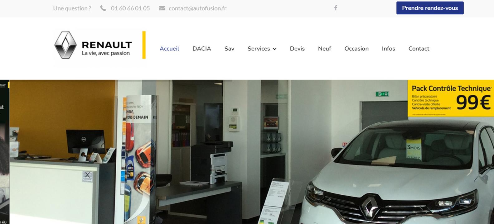 Site internet de Renault Autofusion